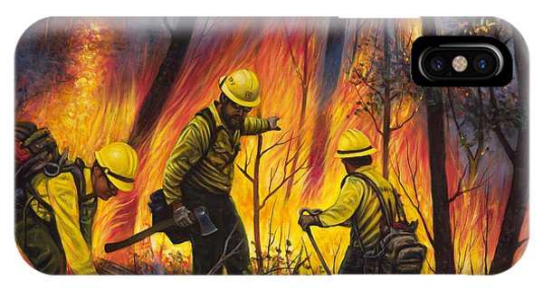 Fire Line 2 IPhone Case