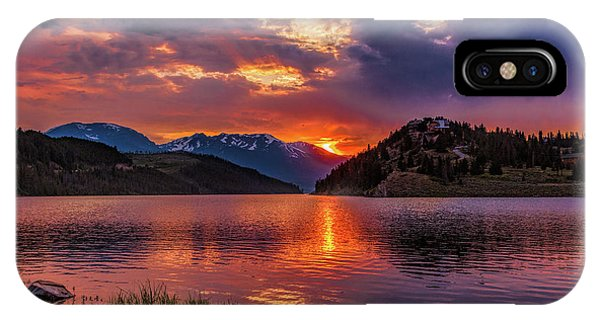 Fire On The Water Reflections IPhone Case