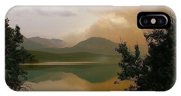 Fire Over St Mary Lake IPhone Case