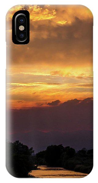 Fire Sky At Sunset IPhone Case