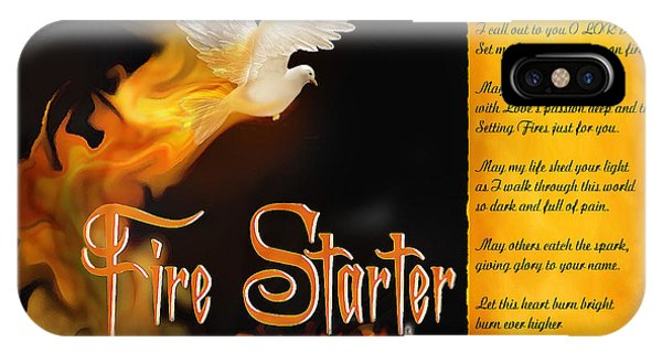 Fire Starter Poem IPhone Case