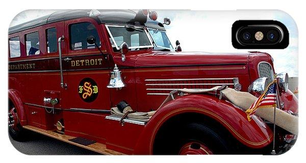 Fire Truck Selfridge Michigan IPhone Case