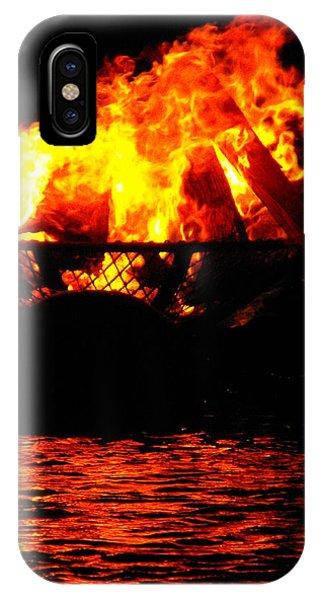 Fire Water Illuminates The Night IPhone Case