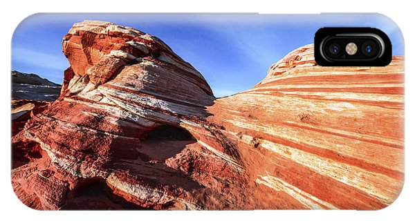 Valley Of Fire iPhone Case - Fire Wave by Chad Dutson
