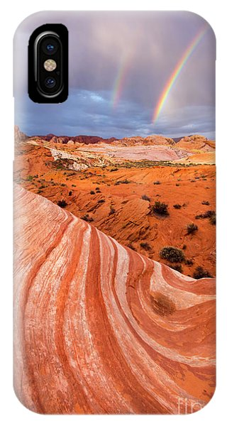 Valley Of Fire iPhone Case - Fire Wave Covenant by Mike Dawson
