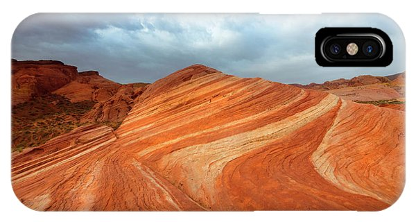 Valley Of Fire iPhone Case - Fire Wave Storm by Mike Dawson
