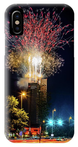 Fire Works In Fort Wayne IPhone Case