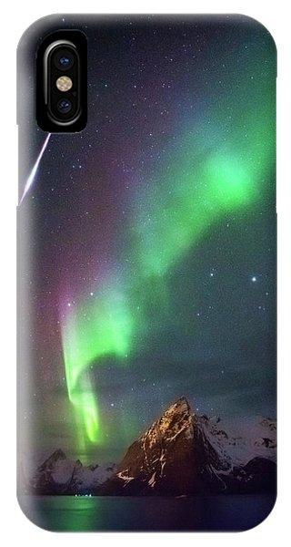 Fireball In The Aurora IPhone Case