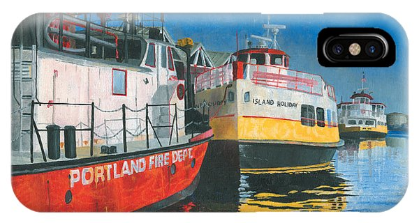 Fireboat And Ferries IPhone Case