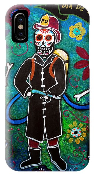 Firefighter Day Of The Dead IPhone Case