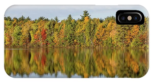 IPhone Case featuring the photograph Firefly Lake Reflection #2 by Paul Schultz