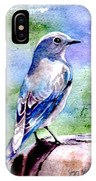 Firehole Bridge Bluebird - Female IPhone Case