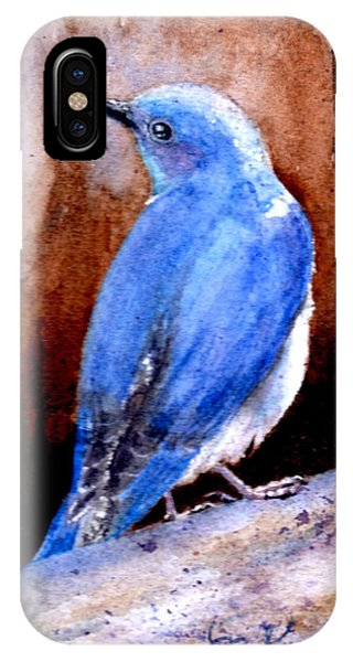 Firehole Bridge Bluebird - Male IPhone Case