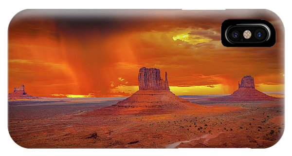Firestorm Over The Valley IPhone Case