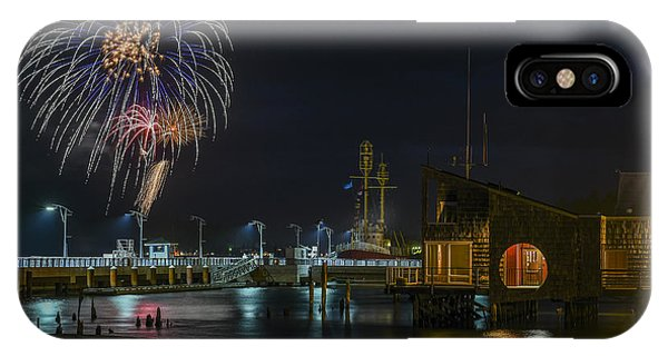 Fireworks And 17th Street Docks IPhone Case