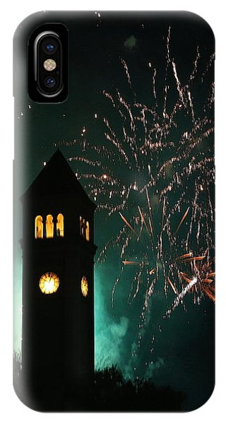 4th July iPhone Case - Fireworks And Clock Tower by Doug Oriard