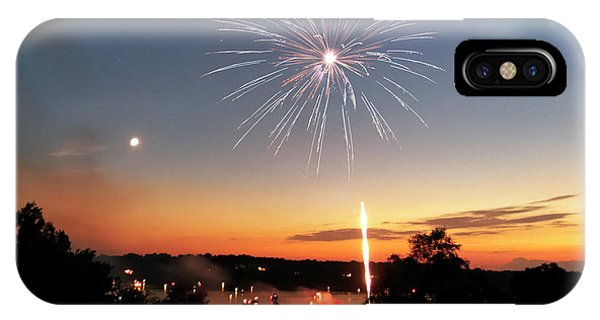 Fireworks And Sunset IPhone Case