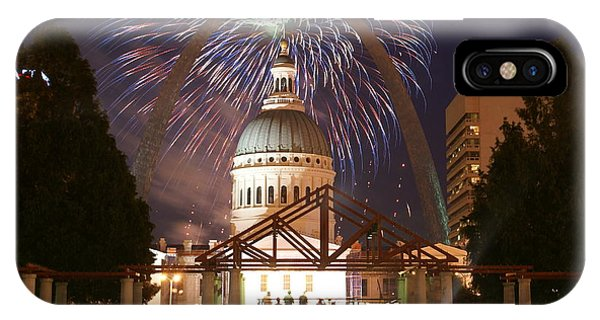 Fireworks At The Arch 1 IPhone Case