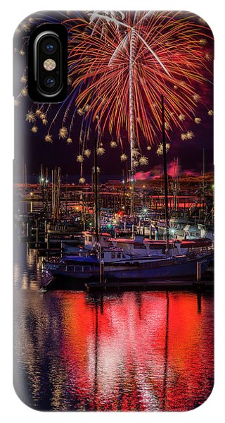 Fireworks At The Docks IPhone Case