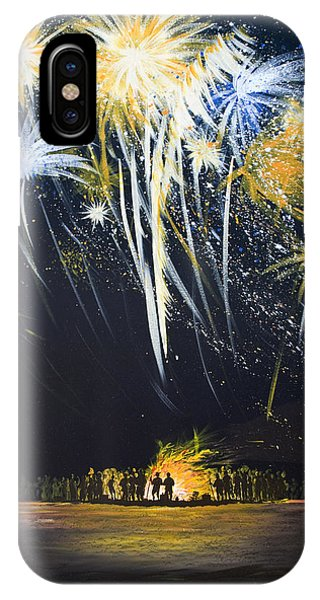 Fireworks Bonfire On The West Bar IPhone Case