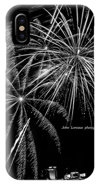 Fireworks Bw IPhone Case