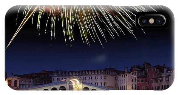 Fireworks Display, Venice Phone Case by Tony Craddock