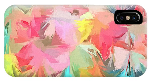 Coldplay iPhone Case - Fireworks Floral Abstract Square by Edward Fielding