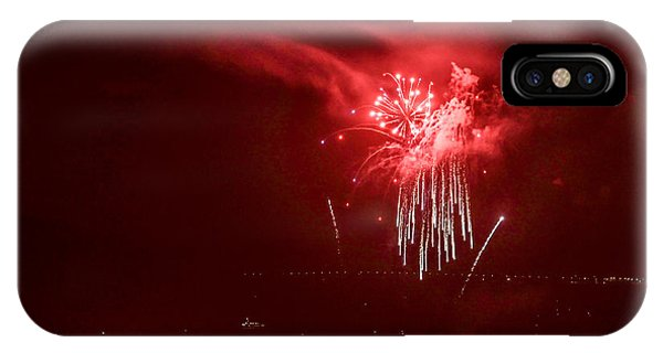 Fireworks In Red And White IPhone Case