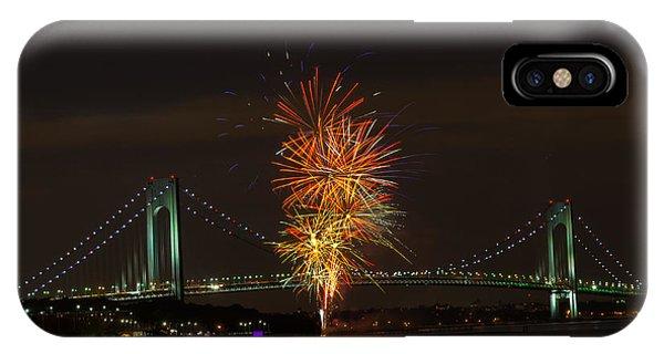 Fireworks Over The Verrazano Narrows Bridge IPhone Case