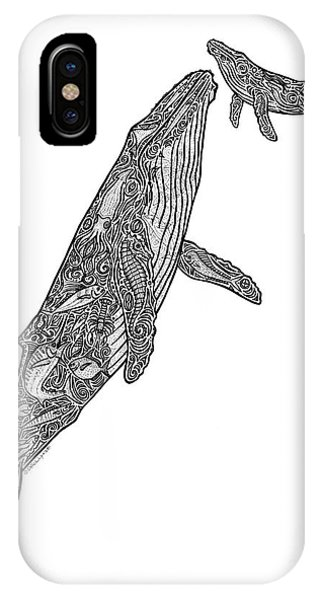 Whales iPhone Case - First Breath by Carol Lynne