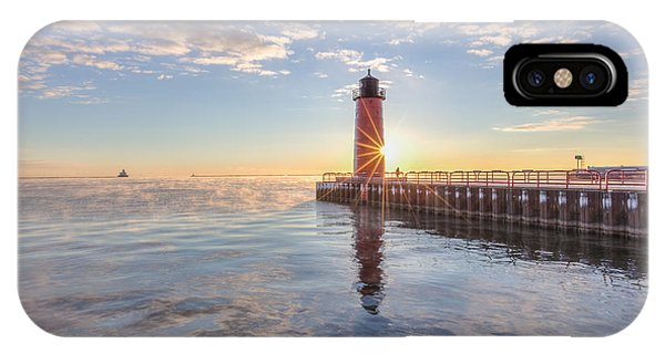 IPhone Case featuring the photograph First Cold Sunrise by Paul Schultz