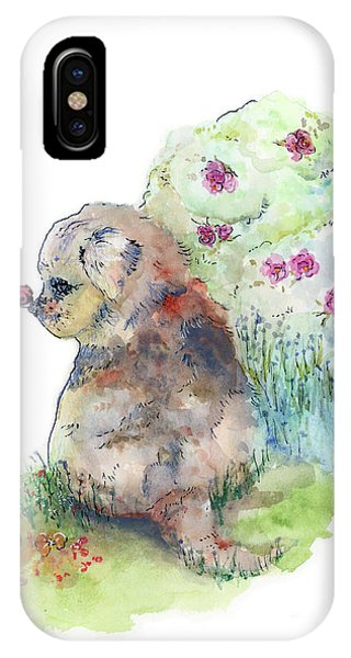 IPhone Case featuring the painting First Contact by Lauren Heller