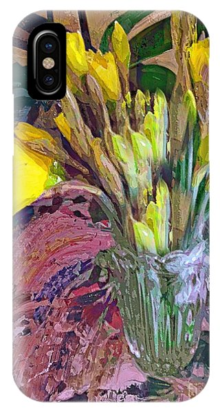 First Daffodils IPhone Case
