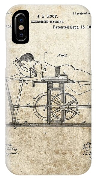 First Exercise Machine Patent IPhone Case