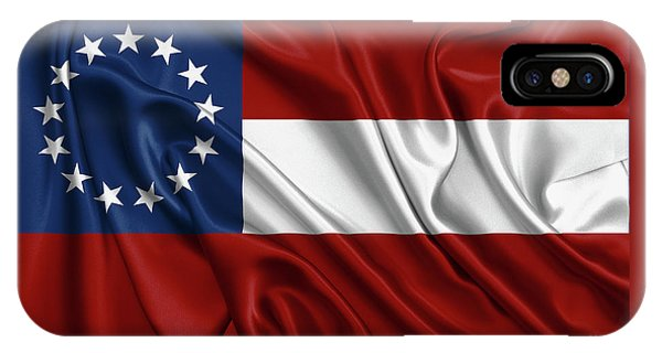 First Flag Of The Confederate States Of America - Stars And Bars 1861-1863 IPhone Case