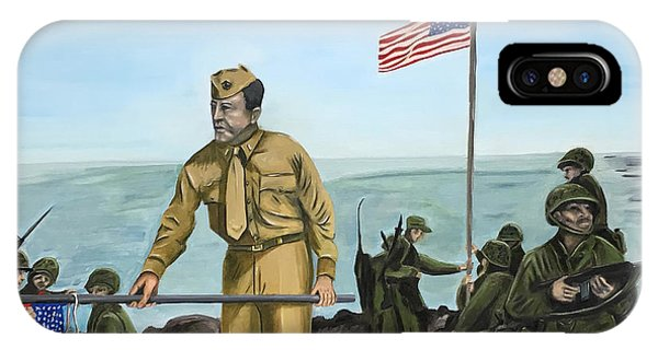 First Flag Raising Iwo Jima IPhone Case