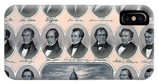 United States Presidents iPhone Case - First Hundred Years Of American Presidents by American School