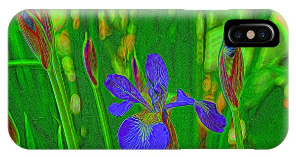 First Iris To Bloom IPhone Case