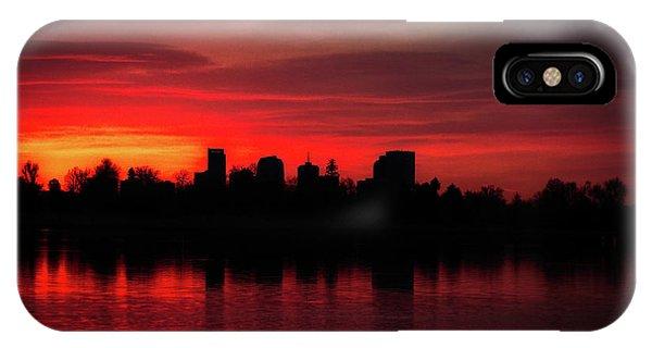 First Light In Denver IPhone Case