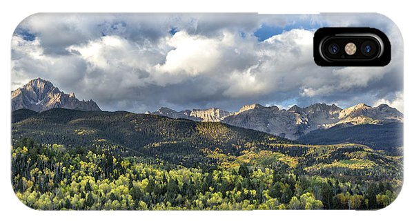 IPhone Case featuring the photograph First Light On The Sneffels Range by Denise Bush