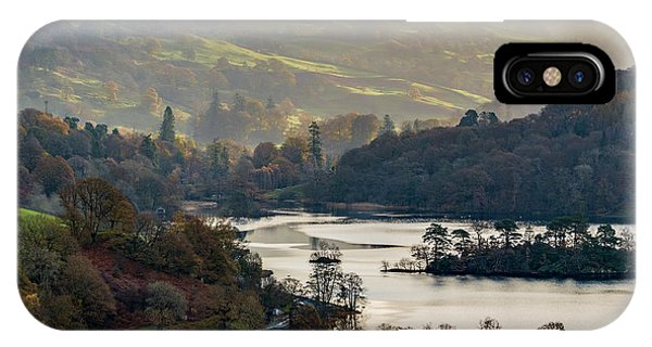 First Light Over Rydal Water In The Lake District IPhone Case