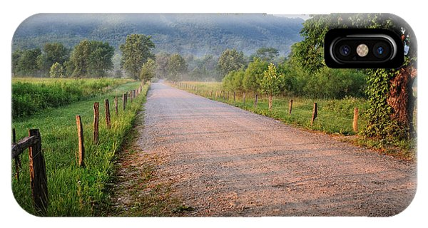 First Light - Sparks Lane At Cades Cove Tennessee IPhone Case