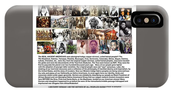 First Native Americans Were Indigo Twa Black Afrikans IPhone Case