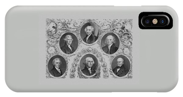 First Six U.s. Presidents IPhone Case