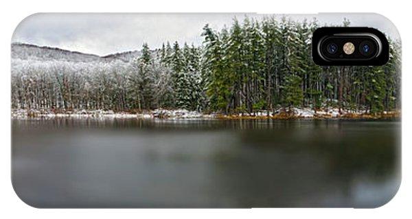 First Snow At Lake Nawahunta IPhone Case