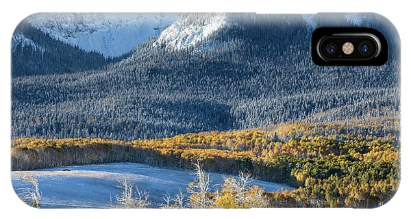 IPhone Case featuring the photograph First Snow, Last Dollar by Denise Bush
