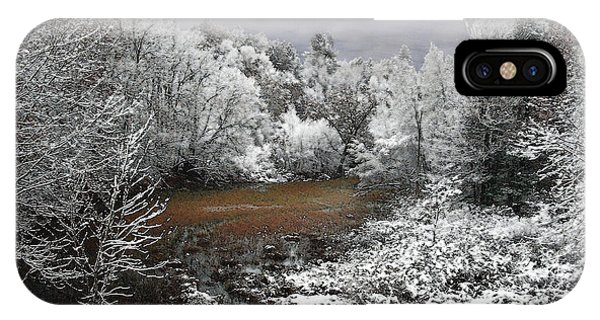IPhone Case featuring the photograph First Snow On An Oxbow by Wayne King