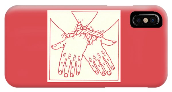 IPhone Case featuring the drawing First Station- Jesus Is Condemned To Death  by William Hart McNichols