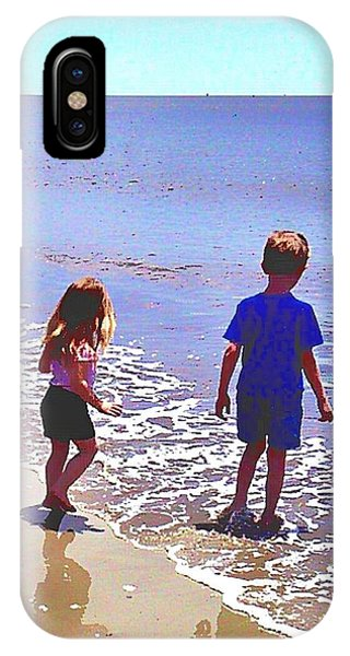 First Time At The Beach IPhone Case