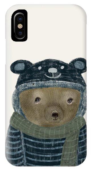 First Winter Bear IPhone Case